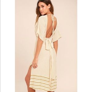 Faithfull the Brand Mustang Midi Dress in Taupe